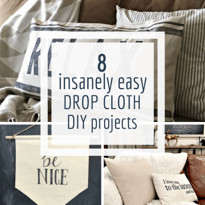 8 Insanely Easy Painters Canvas Drop Cloth Projects to do Right Now!