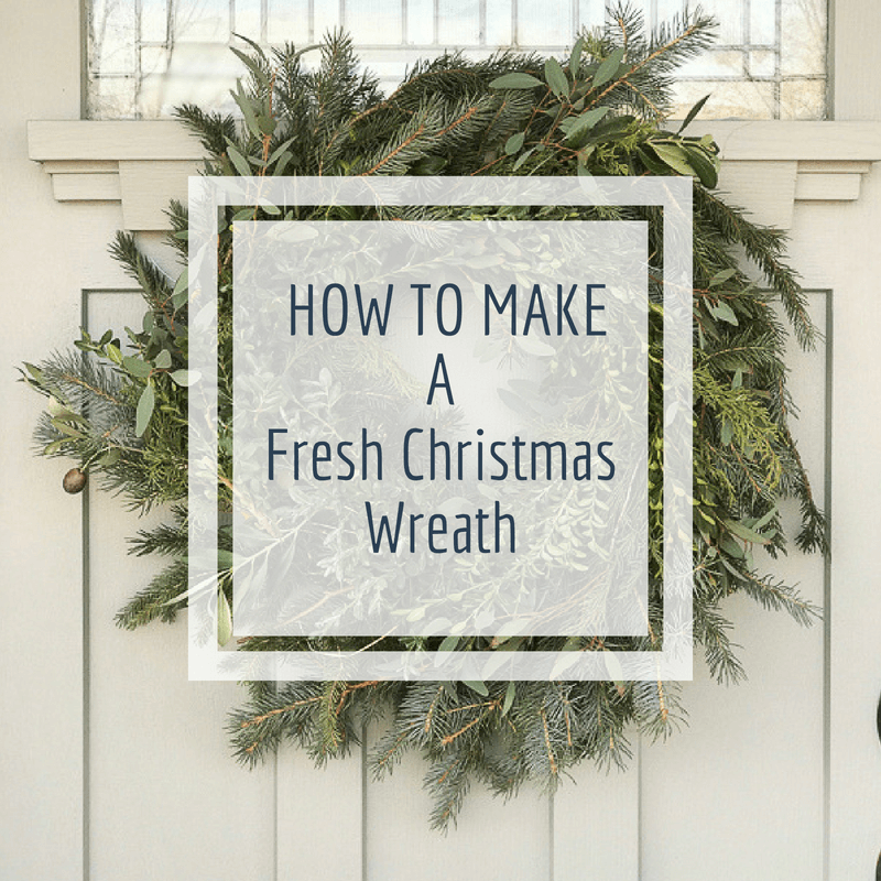 How to make a fresh Christmas wreath in no time
