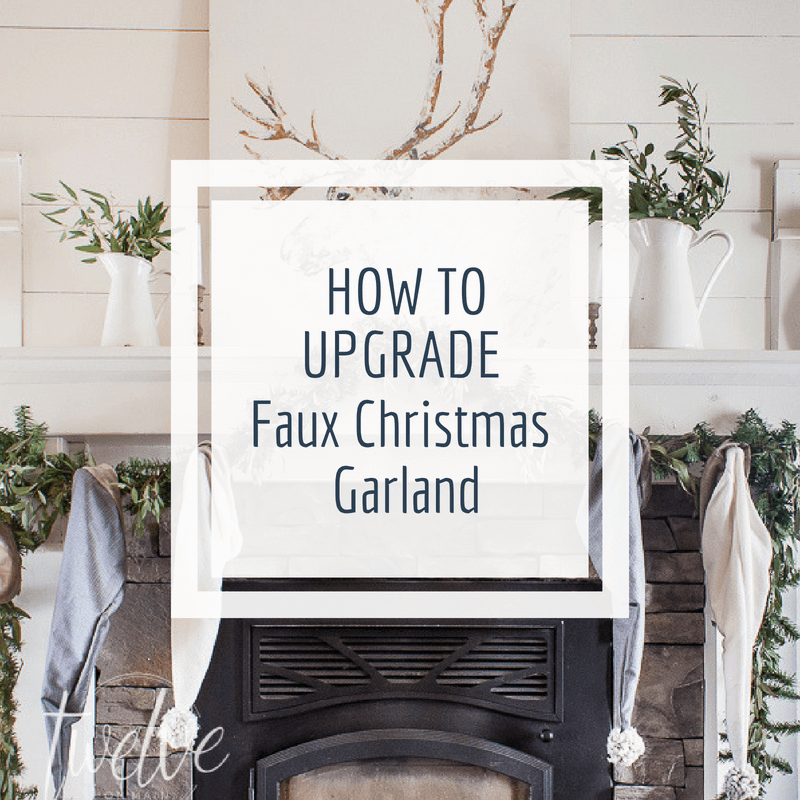 "How to upgrade cheap, faux Christmas garland into expensive, ""the real deal"" Christmas garland in just a few easy steps!"