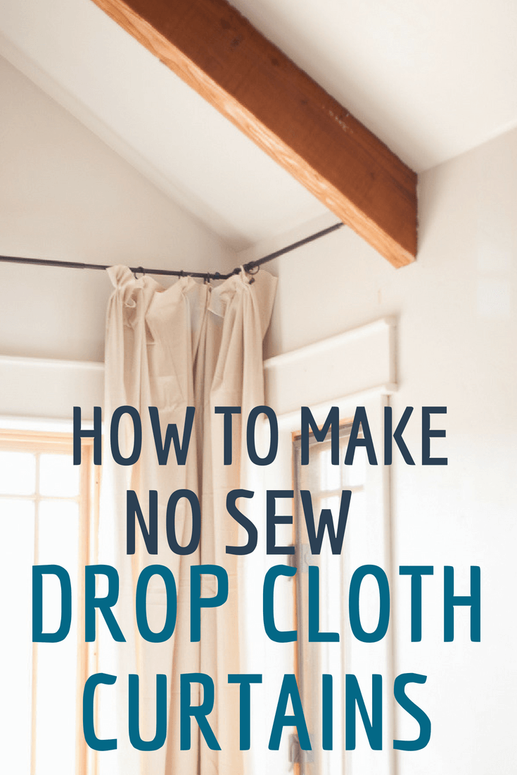 How to make the easiest no sew drop cloth curtains!  Buy inexpensive drop cloths and use this tutorial to make the coolest and most versatile curtains ever! #TwelveOnMain #dropcloth #curtainideas #homedecorideas #
