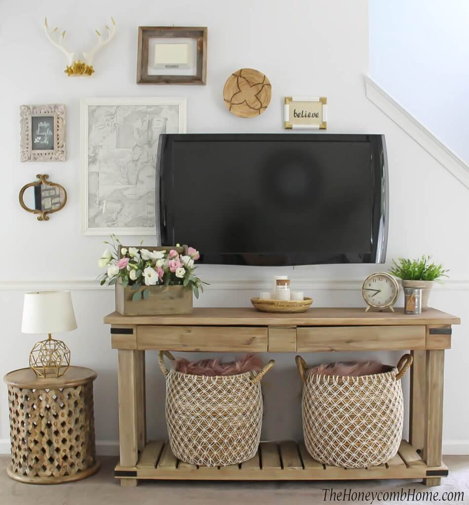 Beautiful ways to decorate around a TV
