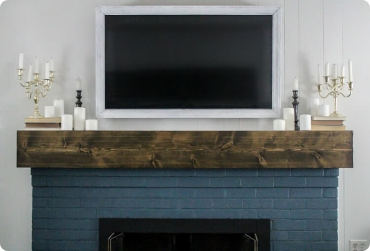 Simple ways to decorate around  a TV