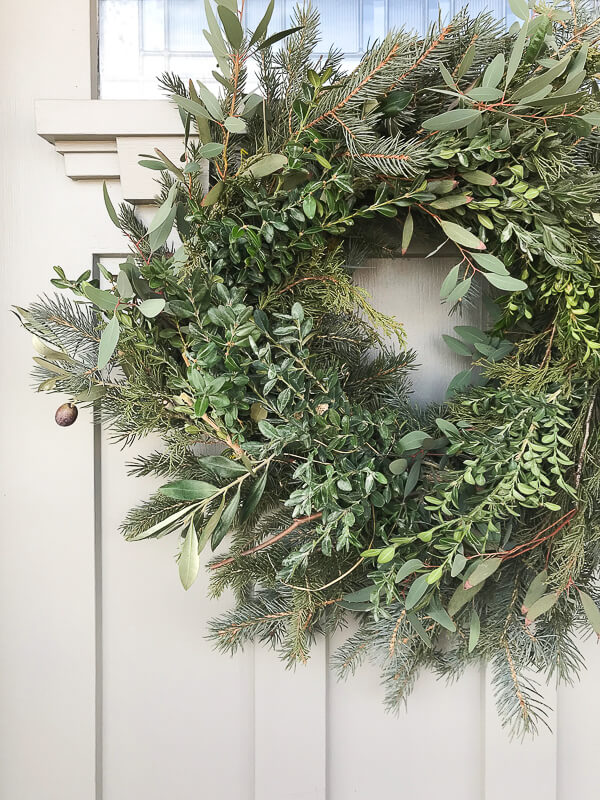 Make yourself a real fresh Christmas wreath from clippings from your Christmas tree! Or ask a tree lot for their cuttings! Save a ton of money and make something super cute!
