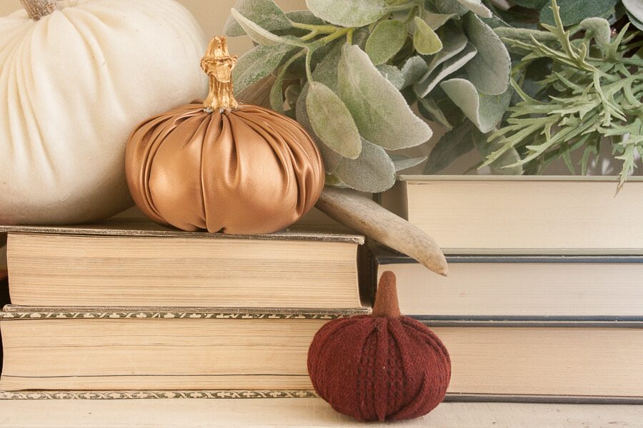 Gosh I am obsessed with this copper leather pumpkin!