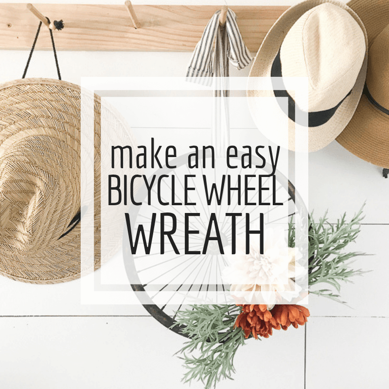 Make an easy bicycle wheel wreath in not time!  Its the easiest wreath I have ever made