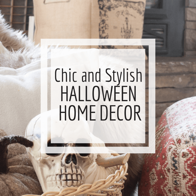 Chic and stylish Halloween home decor! Check this whole home tour out!