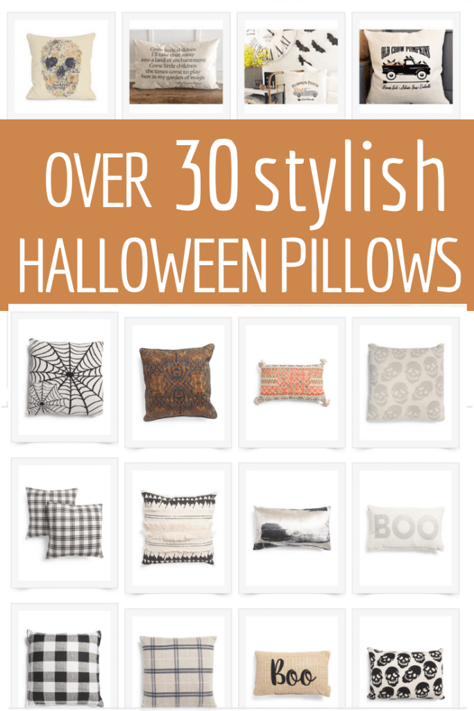 Take your pick of over 30 stylish Halloween pillows that will give your home that spooky vibe you may be looking for!