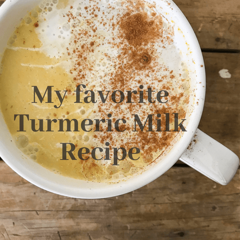 My Very Favorite Turmeric Milk Recipe