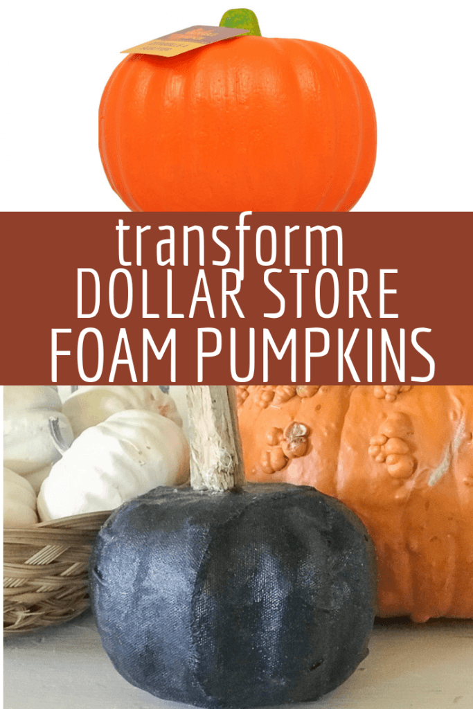 Transform dollar store foam pumpkins into stylish fall or Halloween pumpkin decor!