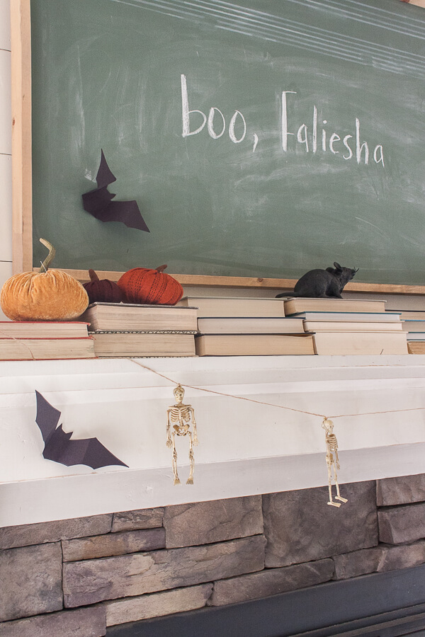 Haha! Boo, Faliesha Halloween chalkboard art decor ideas