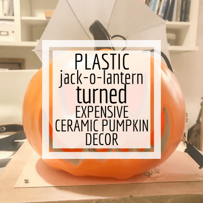 Paint Dollar Store Plastic Jack-O-Lanterns for an Updated Look