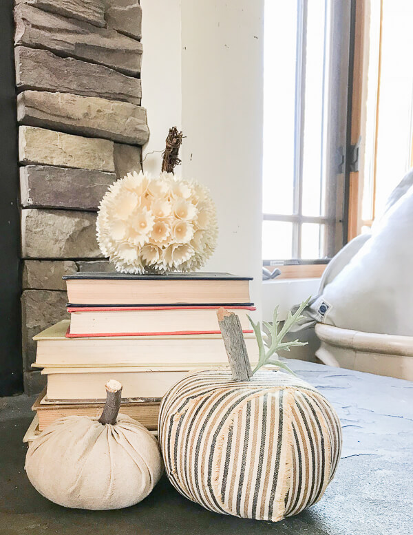 Make easy fall decor by transforming ugly dollar store foam pumpkins!