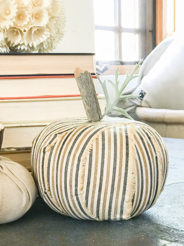 Ugly dollar store foam pumpkins get a makeover and look fabulous!