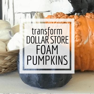 Transform Ugly Dollar Store Foam Pumpkins into Stylish Decor!
