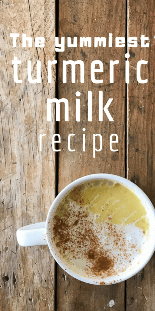 Have you tried turmeric milk before?  Maybe you've heard it called turmeric tea or golden milk.  Try making this comforting and healing drink with my most favorite turmeric milk recipe! #turmeric #turmerictea #turmericmilk