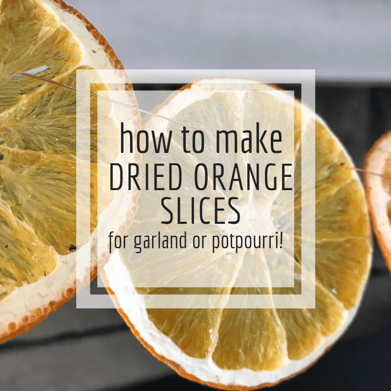 How to make dried orange slices for garland, potpourri or any other craft you can think of!