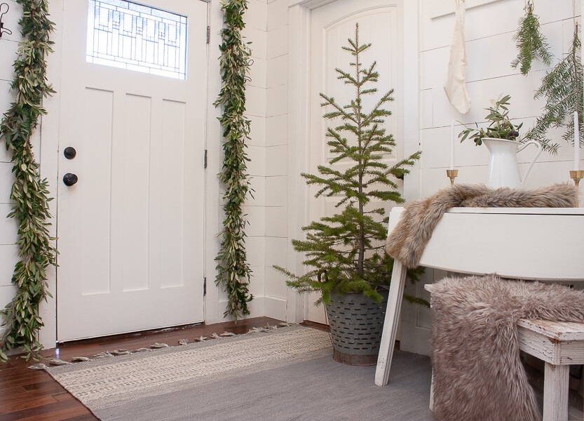 Scandinavian inspired Christmas home decor