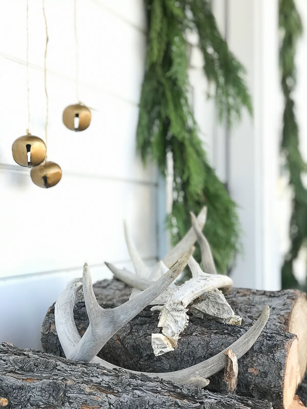 Scandinavian Christmas porch decor
