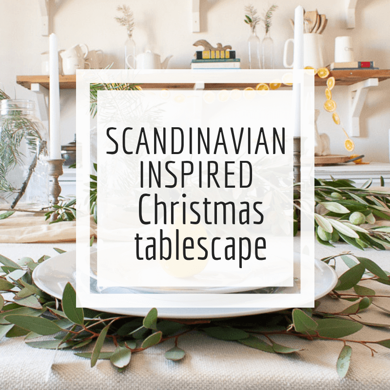 My Scandinavian style Christmas table. Come be inspired.