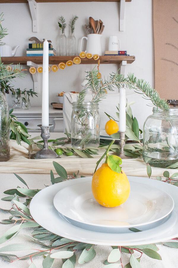 Scandinavian Christmas tablescape