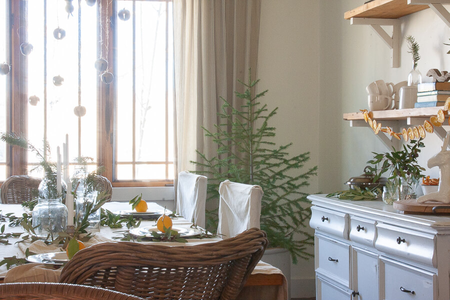 Scandi inspired Christmas tablescape