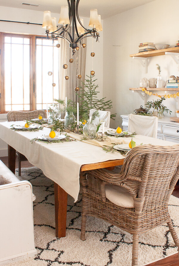 Scandinavian inspired Christmas table