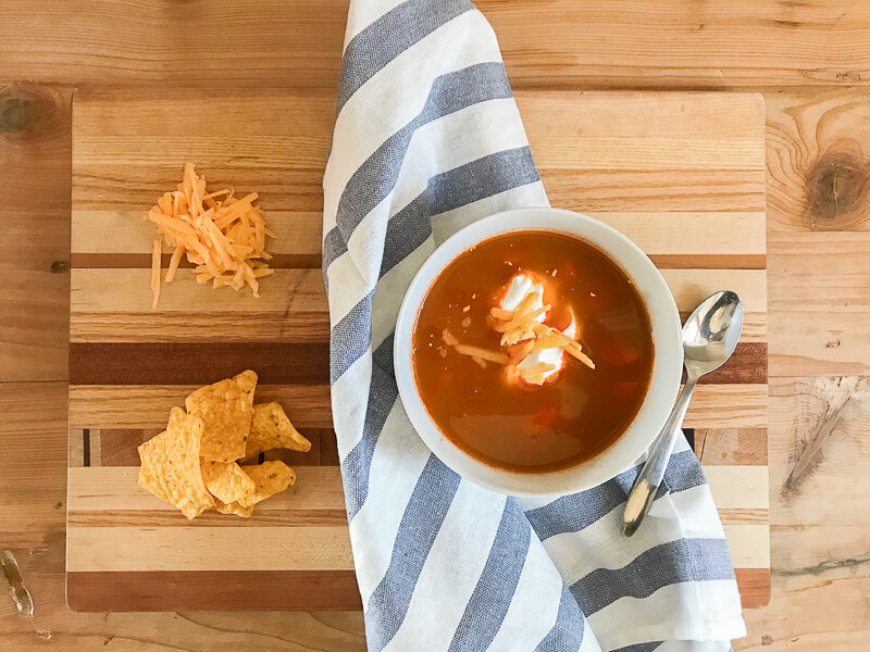 Make the easiest and tastiest tortilla soup recipe ever! Its perfect for the stovetop, Crockpot, or InstaPot!  I have instructions for each one so you can get the perfect soup that works for you!