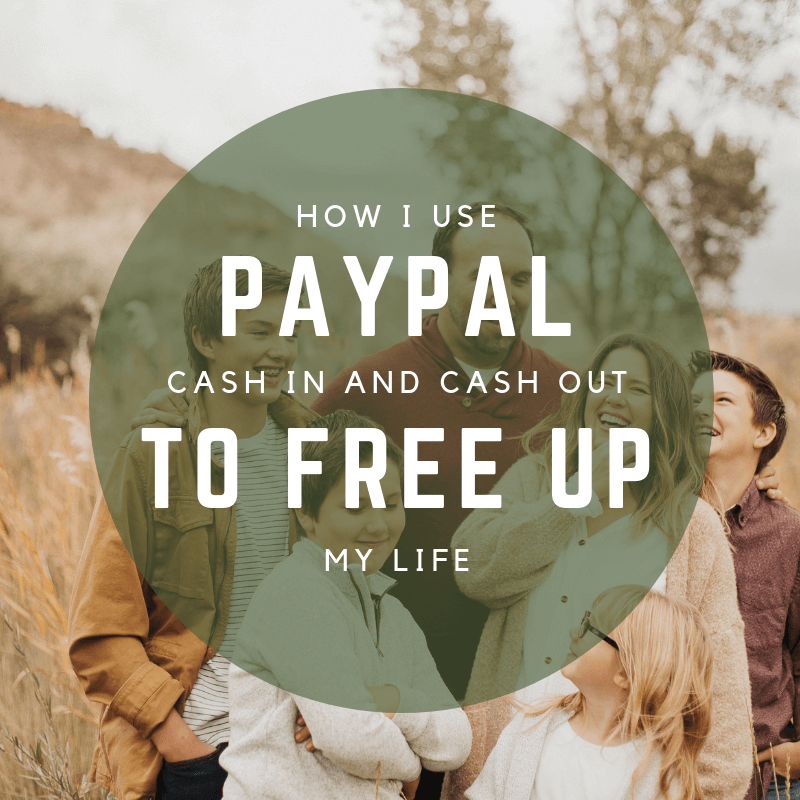 How I use Walmart Paypal cash in and cash out services to free up my life!