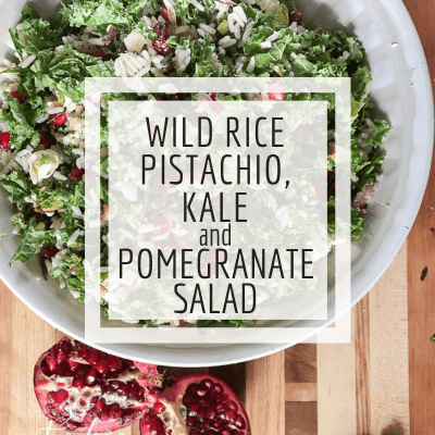 Colorful Wild Rice, Kale, and Pomegranate Salad