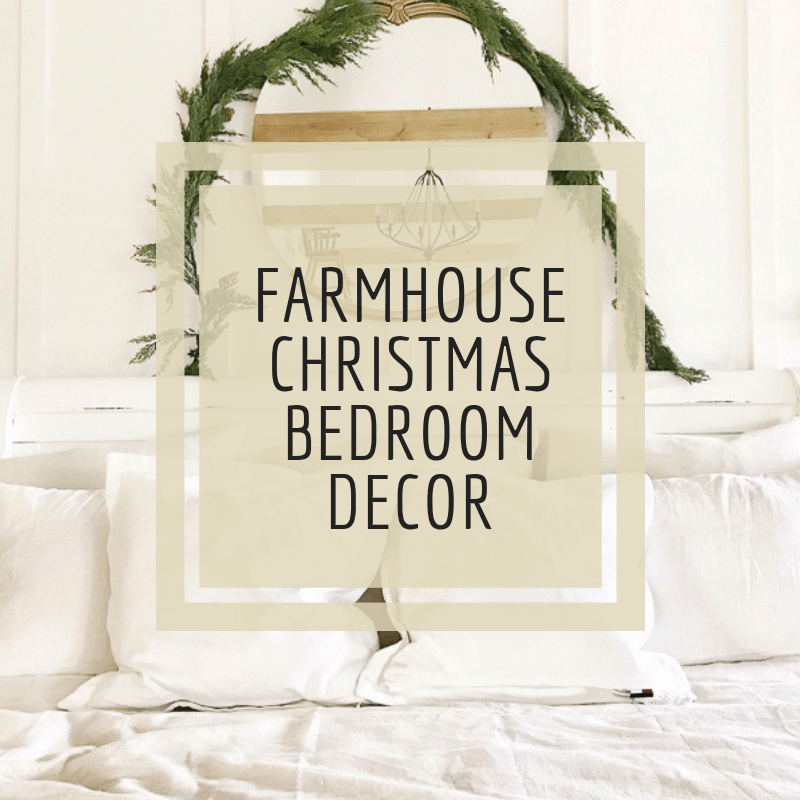 Simple Scandinavian Farmhouse Style Christmas Bedroom Decor