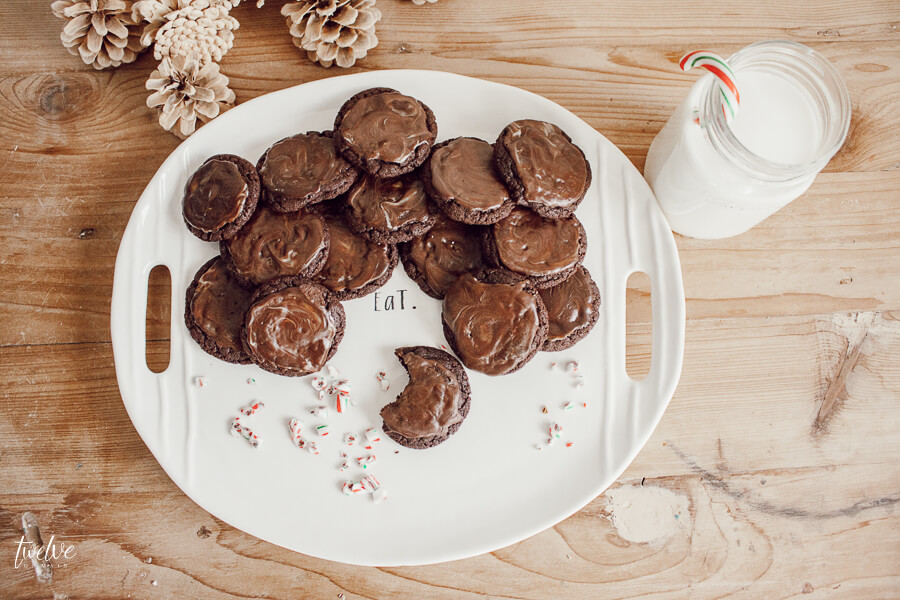 The ultimate Santa cookie!  Try these easy Christmas cookies and impress Santa!  The yummiest Andes Mints cookies ever!