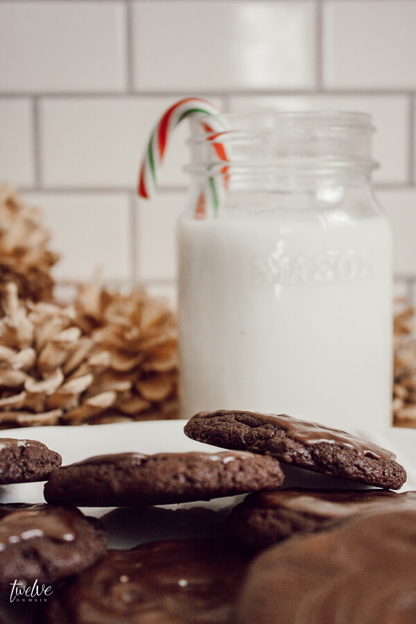 Do you need the perfect Christmas cookie to give Santa Clause? These chocolate Andes Mints cookies are so easy and will make Santa's night!