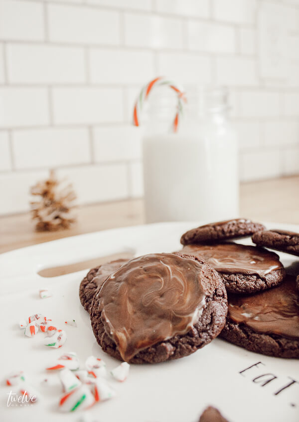 Super yummy Andes Mints Christmas cookies! The perfect balance of mint and chocolate together!