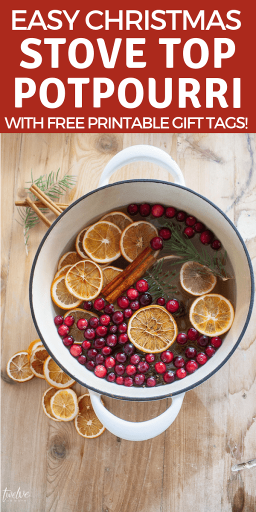 Make this easy stovetop potpourri gift for your friends, neighbors and family this Christmas. Not only does it smell heavenly, but its beautiful too!