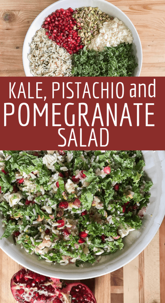 Make this flavorful kale, wild rice, and pomegranate salad and wow your friends and family!