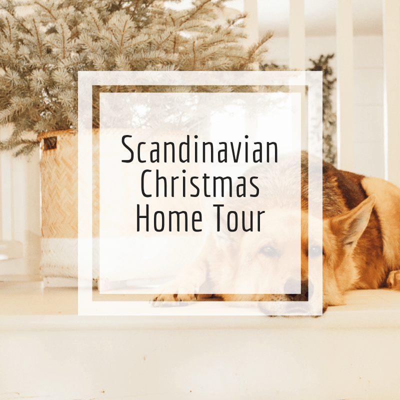 Scandinavian Christmas home tour
