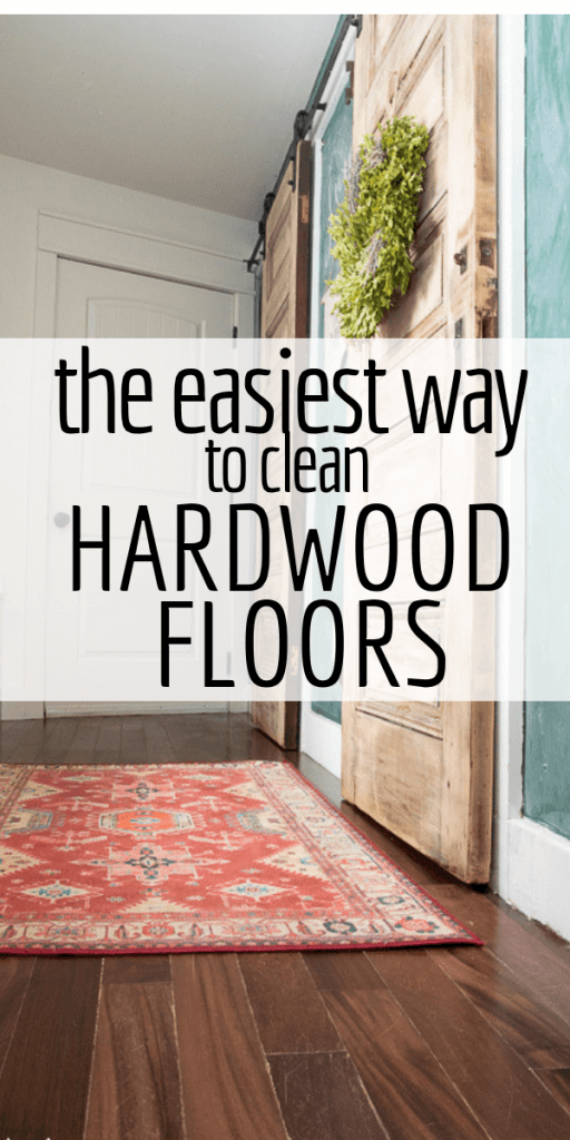 The easiest way to clean hardwood floors. Check out my vote for the best mop for hardwood floors too!
