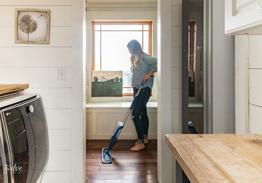 Using the Bona Premium Spray Mop and Hardwood Floor Cleaner is my go to that keeps my home clean and saves me time.