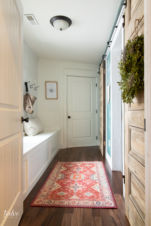 How to create a clean and organized mudroom in the middle of the winter!