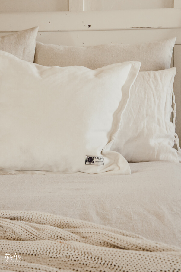 Beautiful farmhouse style bedding for next to nothing!