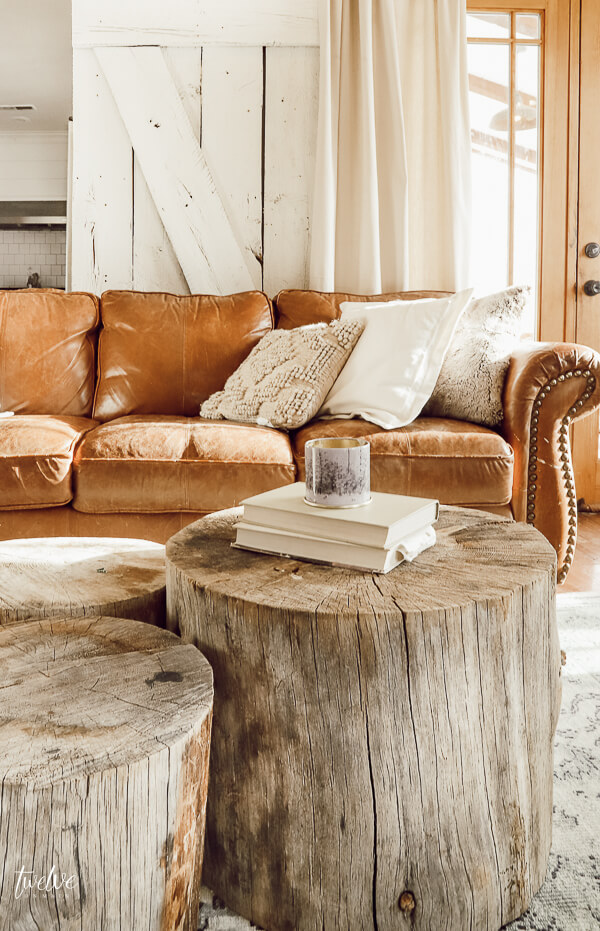 Make this beautiful tree stump coffee table and skip the middleman! They are so unique and versatile!
