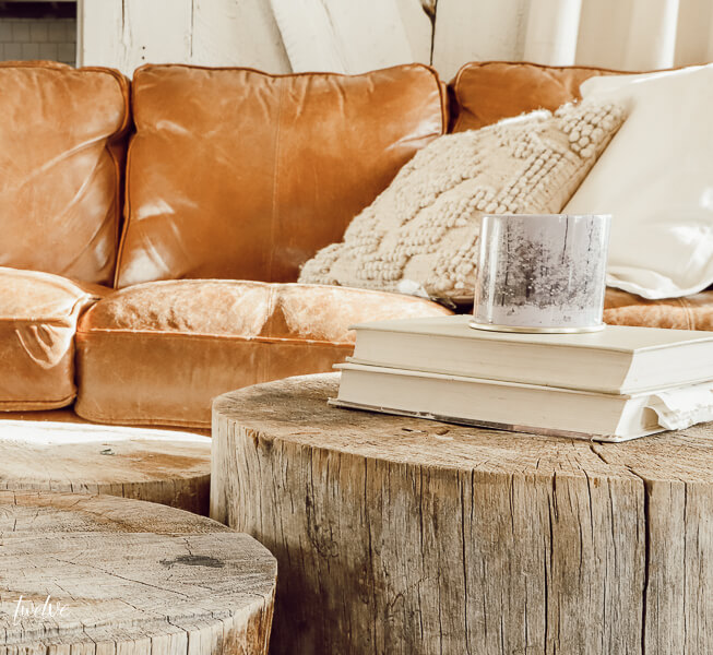 Did you know you can make your own tree stump coffee table? Check this out!