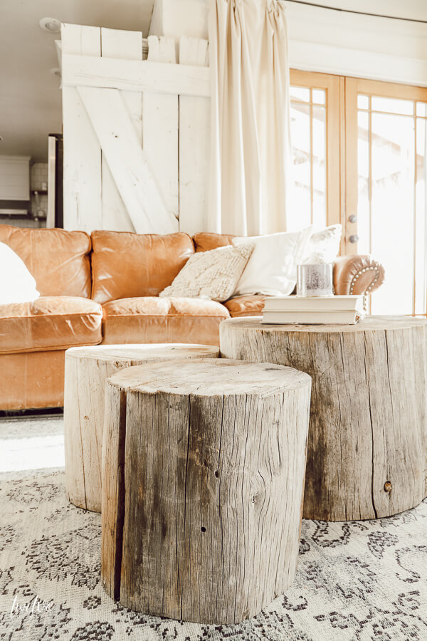 Easy to make tree stump coffee table? yes please!