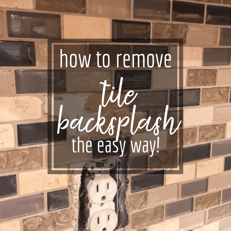 How To Remove Tile Backsplash Like A
