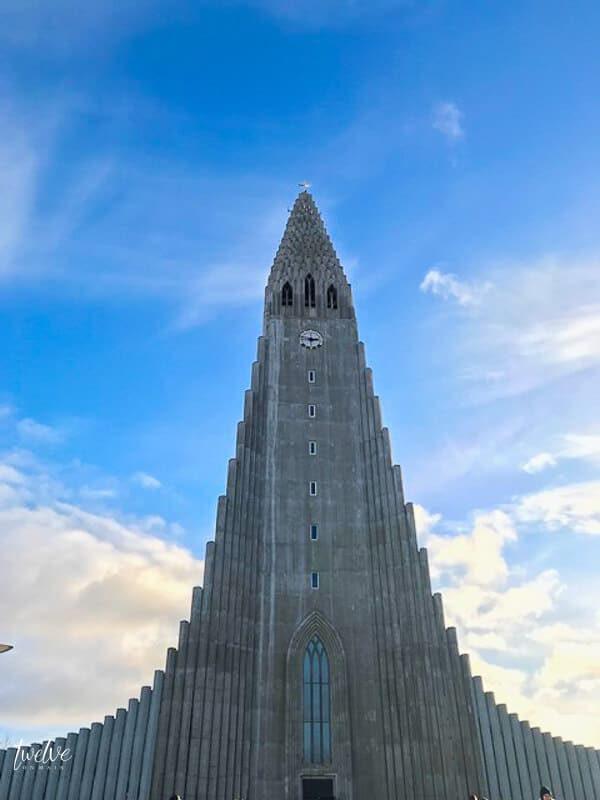The famous concrete Lutheran Church, Hallgrímskirkja, in Iceland