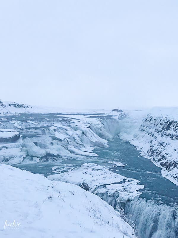 The  Gulfoss waterfall is just one of many amazing sights in Iceland.  Read these 15 things to know before travelling to Iceland.