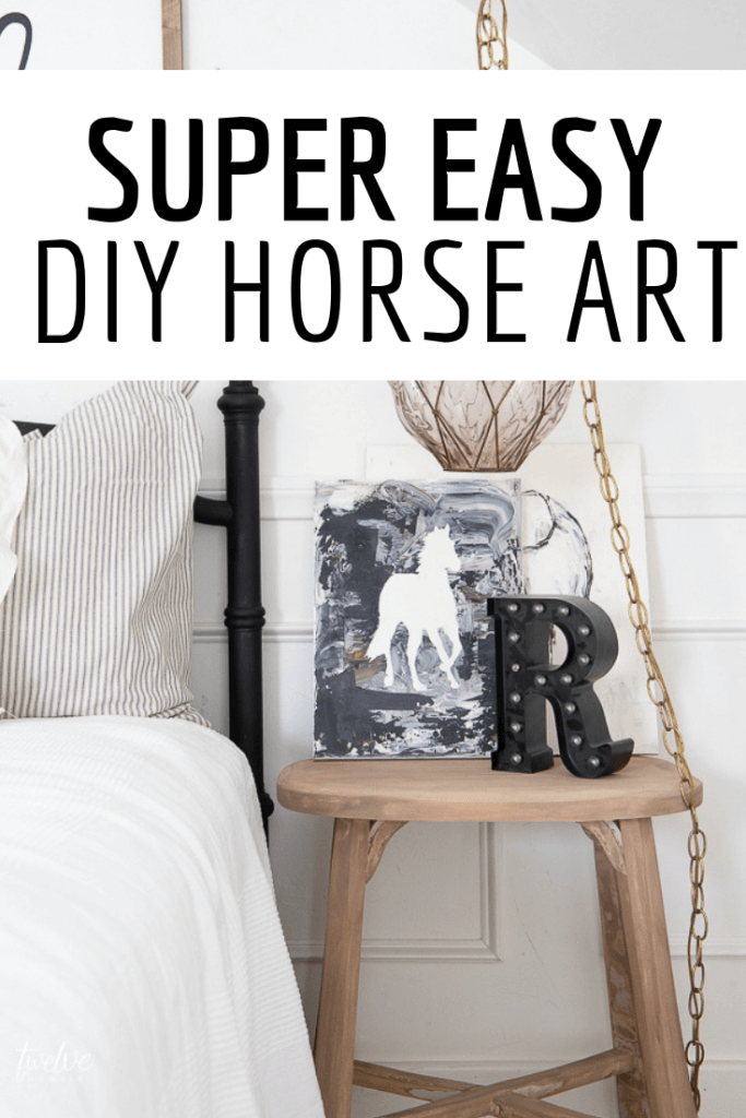 I used my Cricut Maker to create super easy horse art for my daughters bedroom! Its so fun! Come see how easy it was! #cricutmaker #cricut #easycrafts
