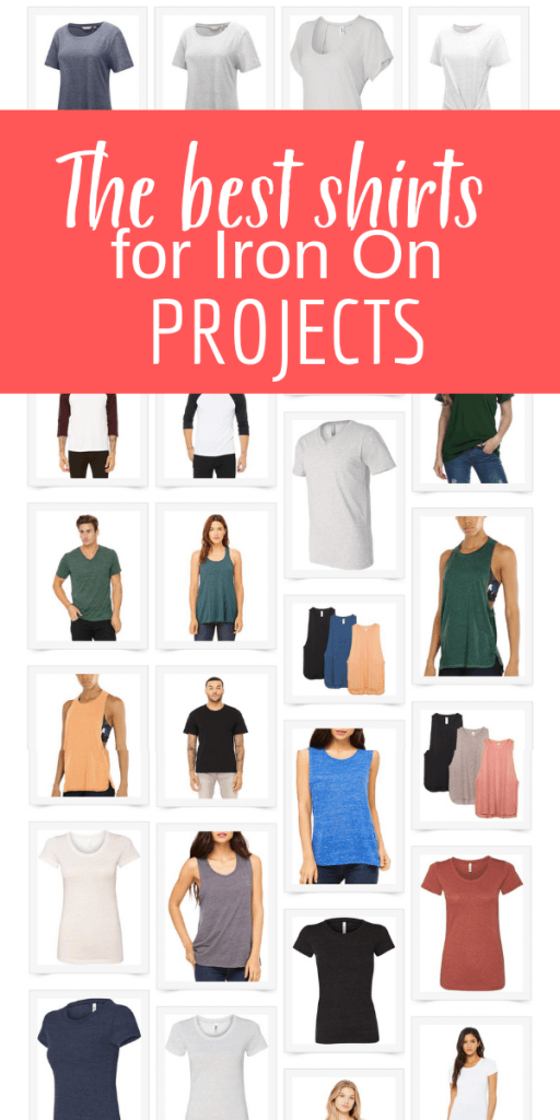 Love to create your own t-shirts with iron-on transfer projects? Check out this awesome resource with some of the softest and most comfortable shirts for your next project!