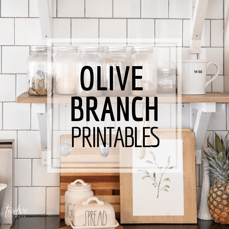 Handmade Watercolor Olive Branch Spring Printables!