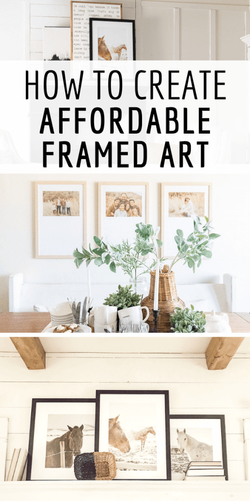 How to create affordable framed art with my favorite picture frame shop online!
